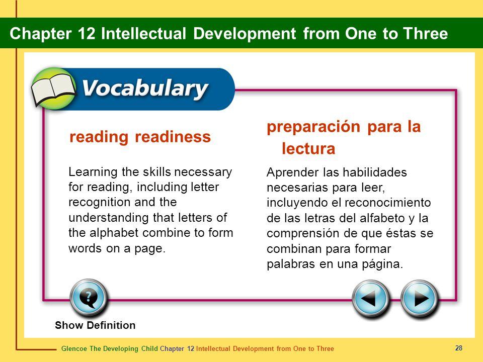 preparación para la lectura reading readiness