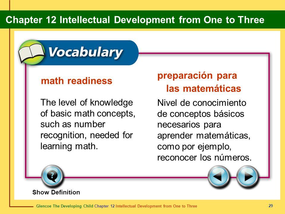 preparación para las matemáticas math readiness