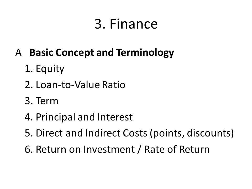 3. Finance