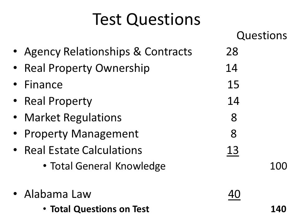 Test Questions Questions Agency Relationships & Contracts 28