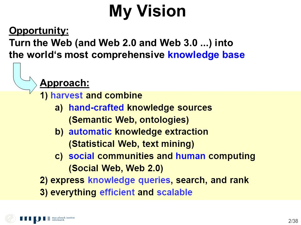 My Vision Opportunity: Turn the Web (and Web 2.0 and Web 3.0 ...) into
