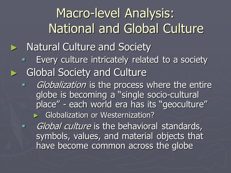 Macro-level Analysis: National and Global Culture