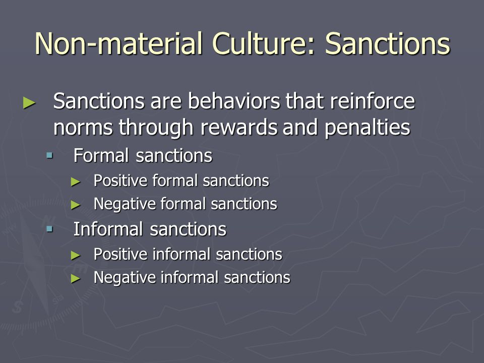 Non-material Culture: Sanctions