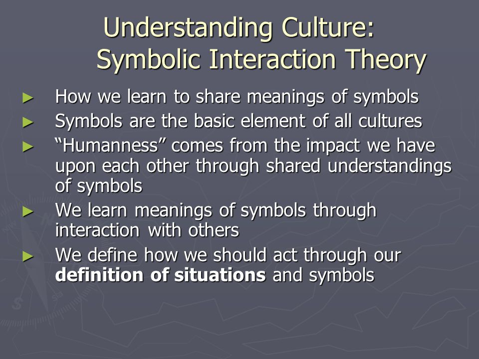 Understanding Culture: Symbolic Interaction Theory