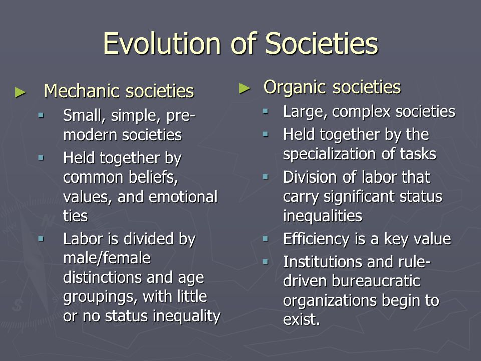 Evolution of Societies
