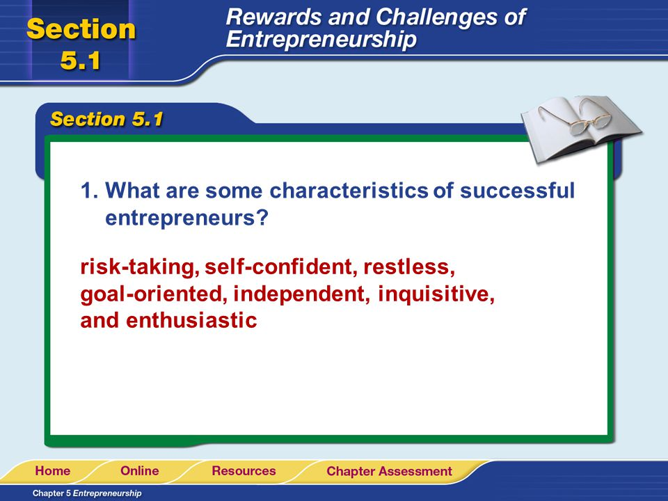 What are some characteristics of successful entrepreneurs