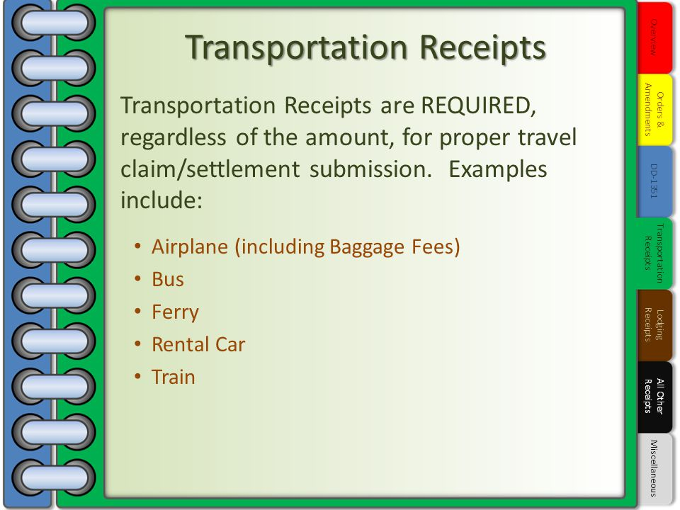 Transportation Receipts