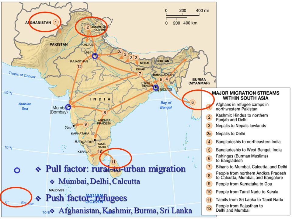 Pull factor: rural-to-urban migration