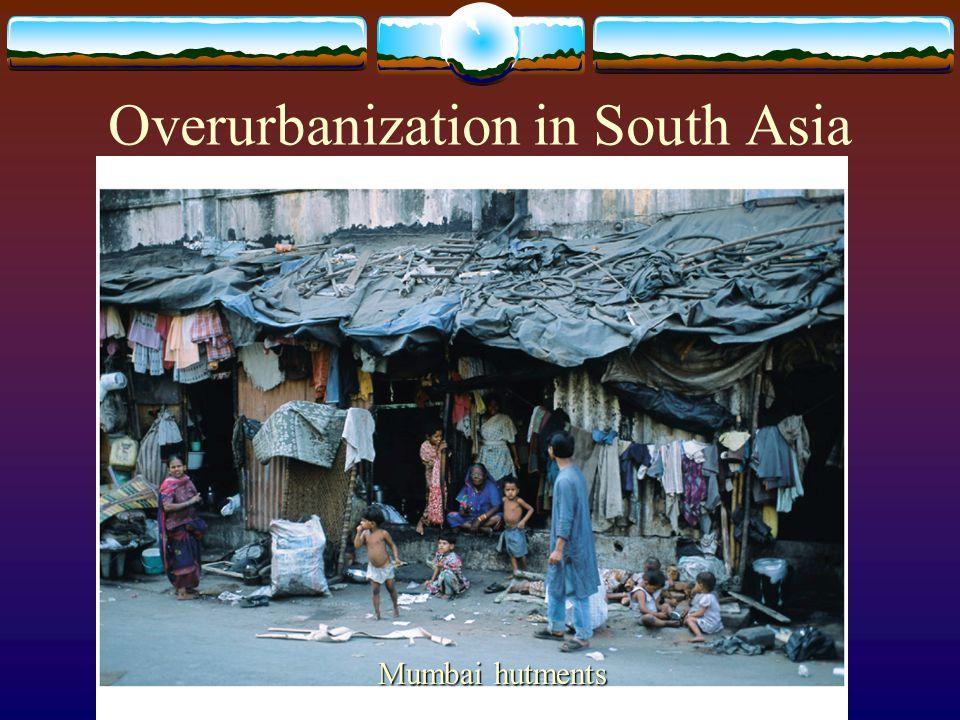 Overurbanization in South Asia