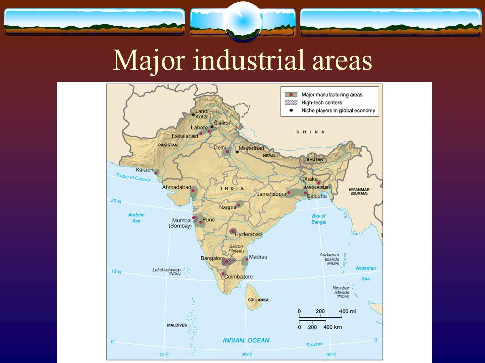 Major industrial areas