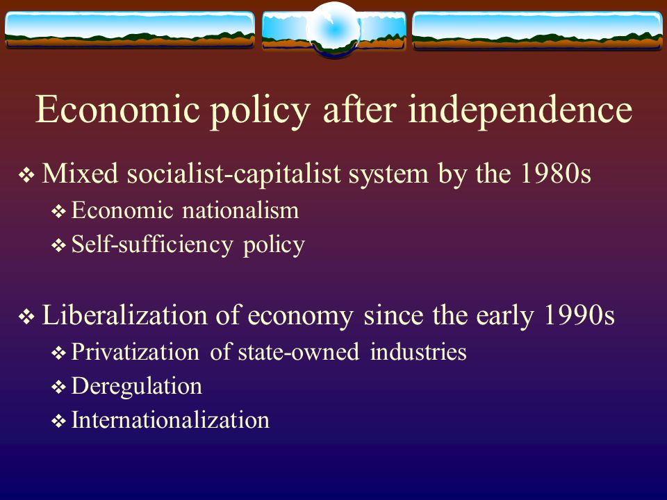 Economic policy after independence