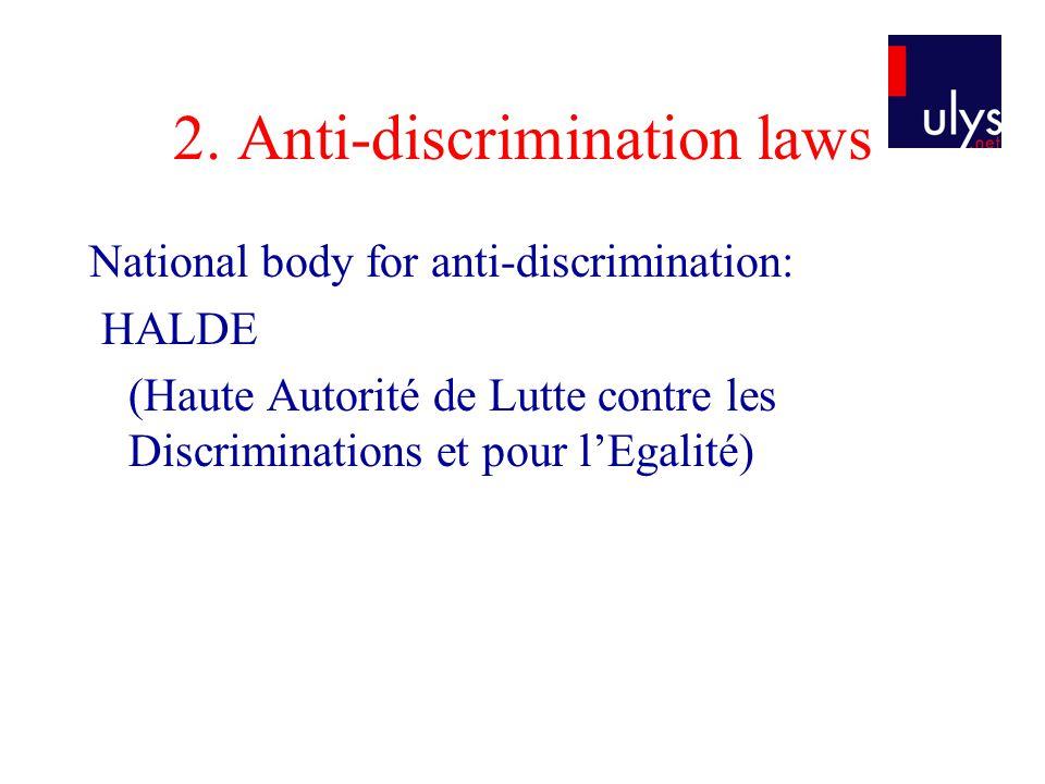 2. Anti-discrimination laws