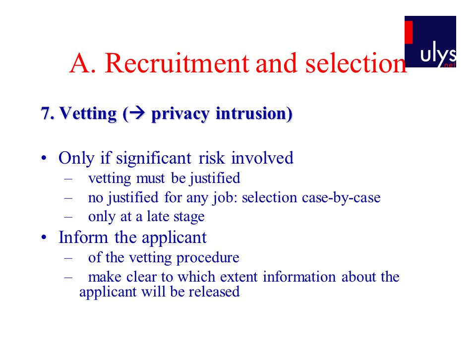 A. Recruitment and selection