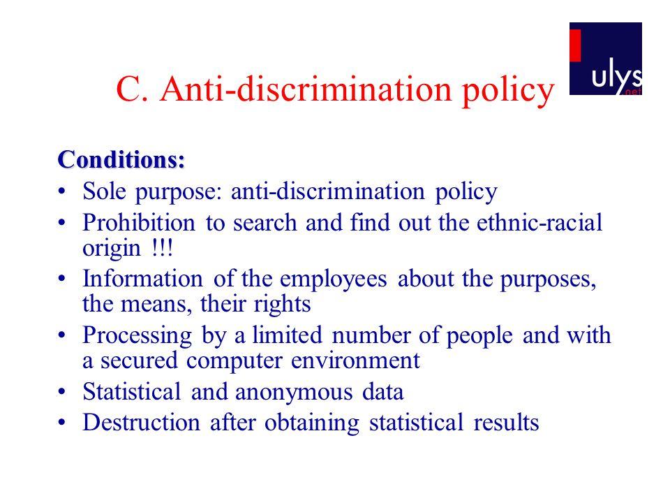 C. Anti-discrimination policy