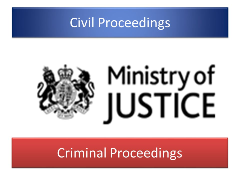 Civil Proceedings Criminal Proceedings