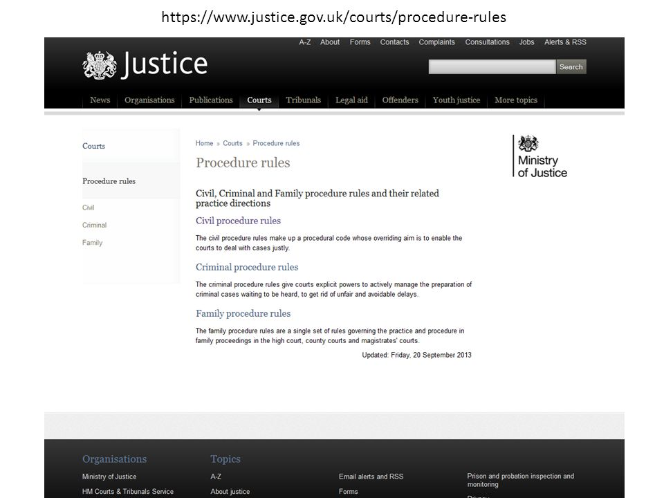 https://www.justice.gov.uk/courts/procedure-rules