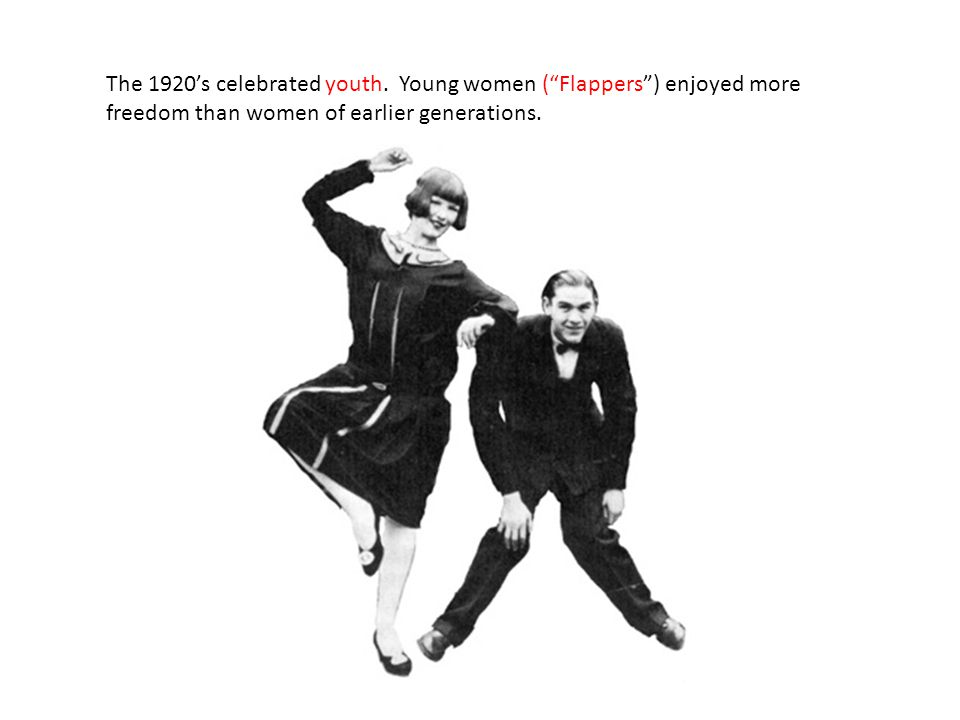 The 1920's celebrated youth