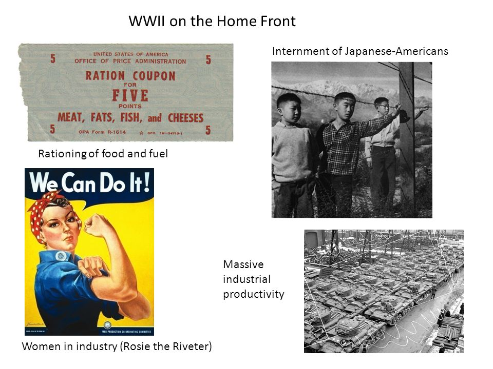 WWII on the Home Front Internment of Japanese-Americans