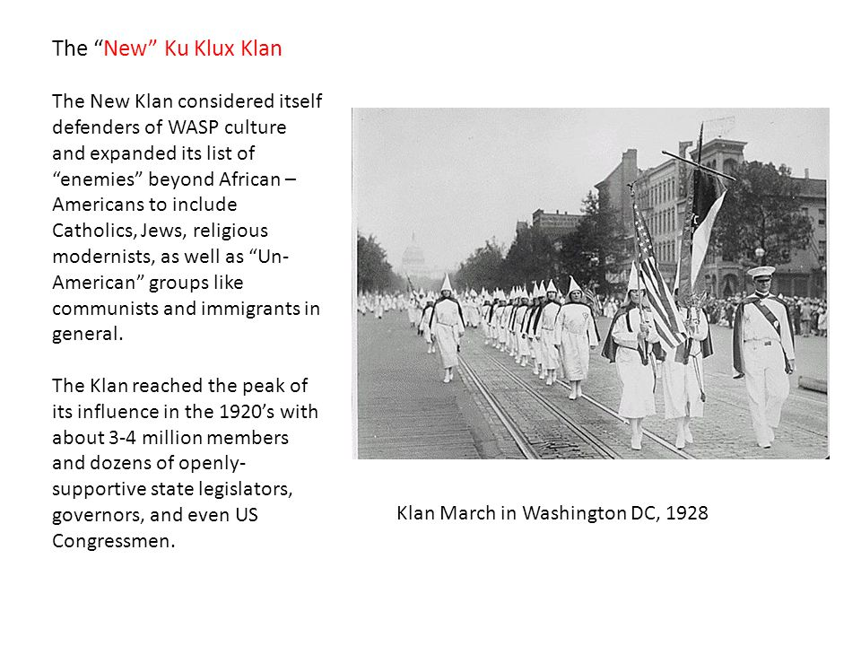 The New Ku Klux Klan