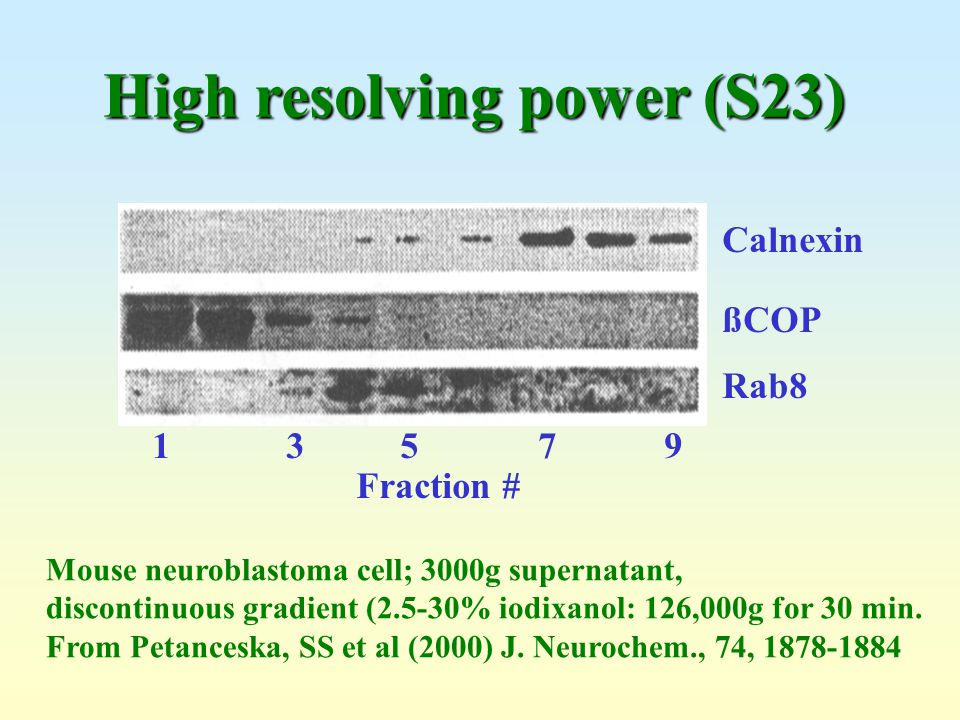 High resolving power (S23)