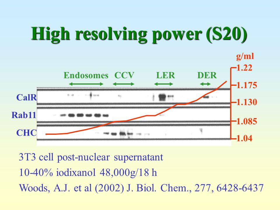 High resolving power (S20)