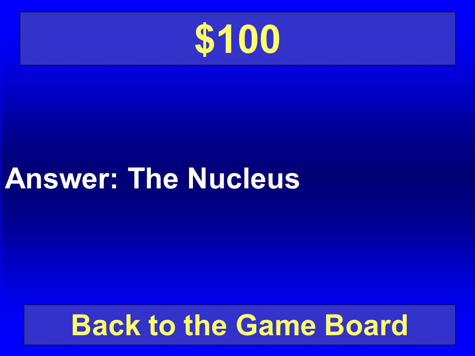 $100 Answer: The Nucleus Back to the Game Board