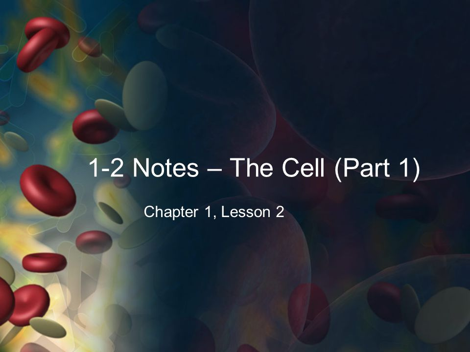 1-2 Notes – The Cell (Part 1)