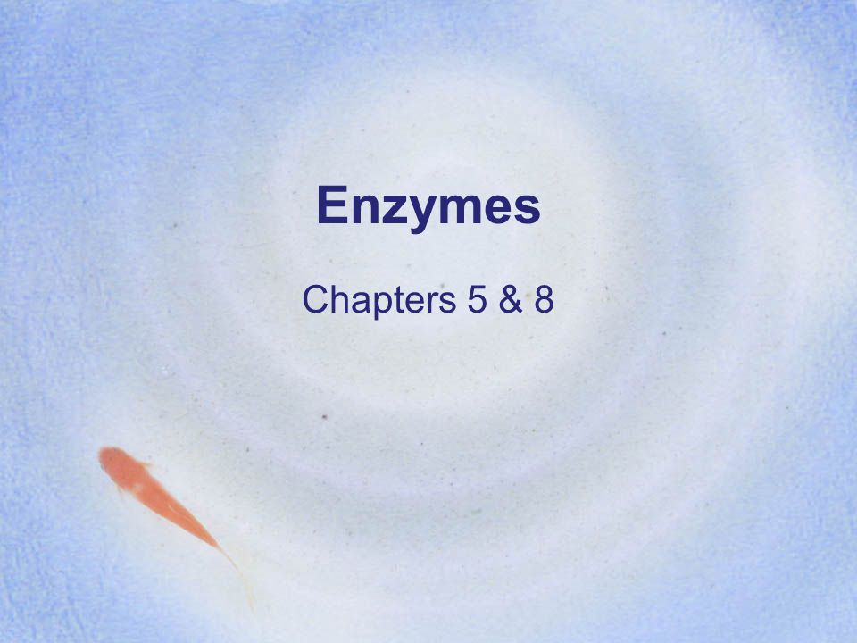 Enzymes Chapters 5 & 8