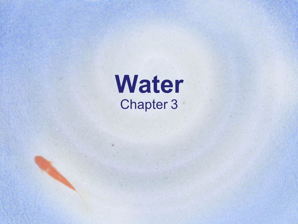 Water Chapter 3