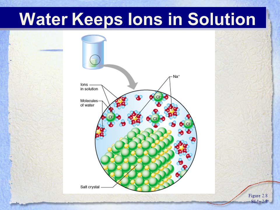 Water Keeps Ions in Solution