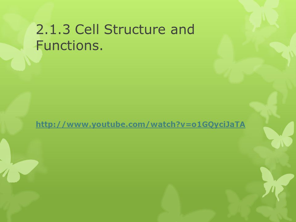 2.1.3 Cell Structure and Functions.