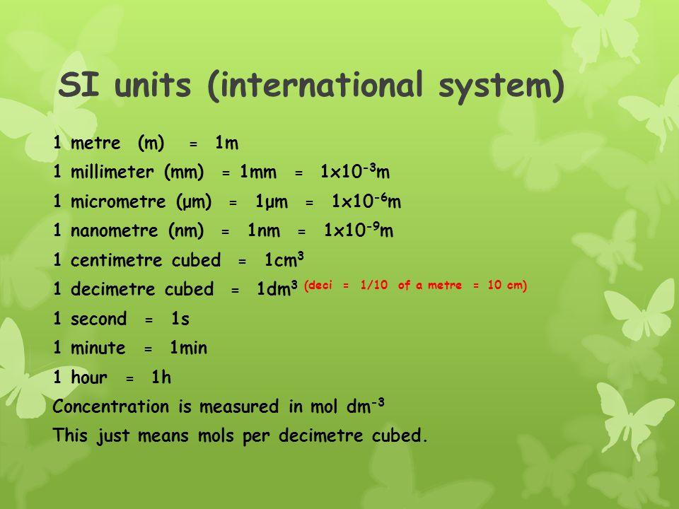 SI units (international system)
