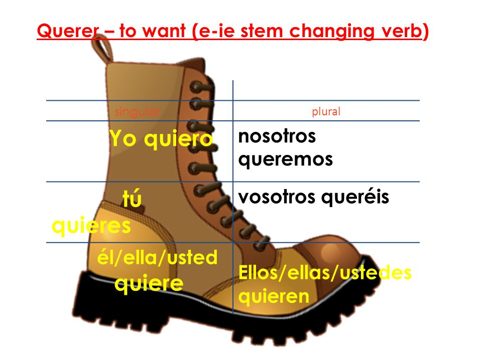 Querer – to want (e-ie stem changing verb)