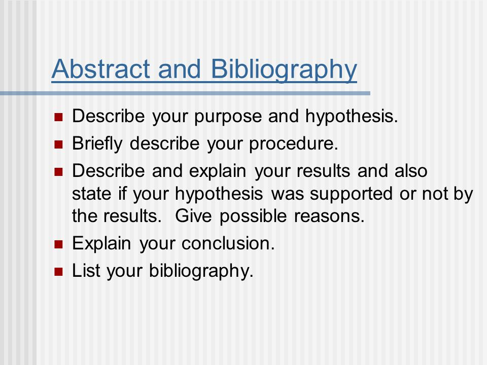 Abstract and Bibliography