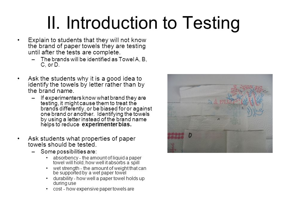 II. Introduction to Testing