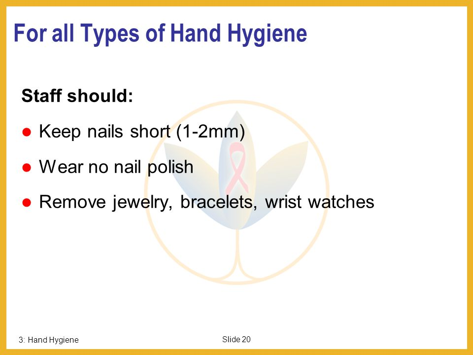 For all Types of Hand Hygiene