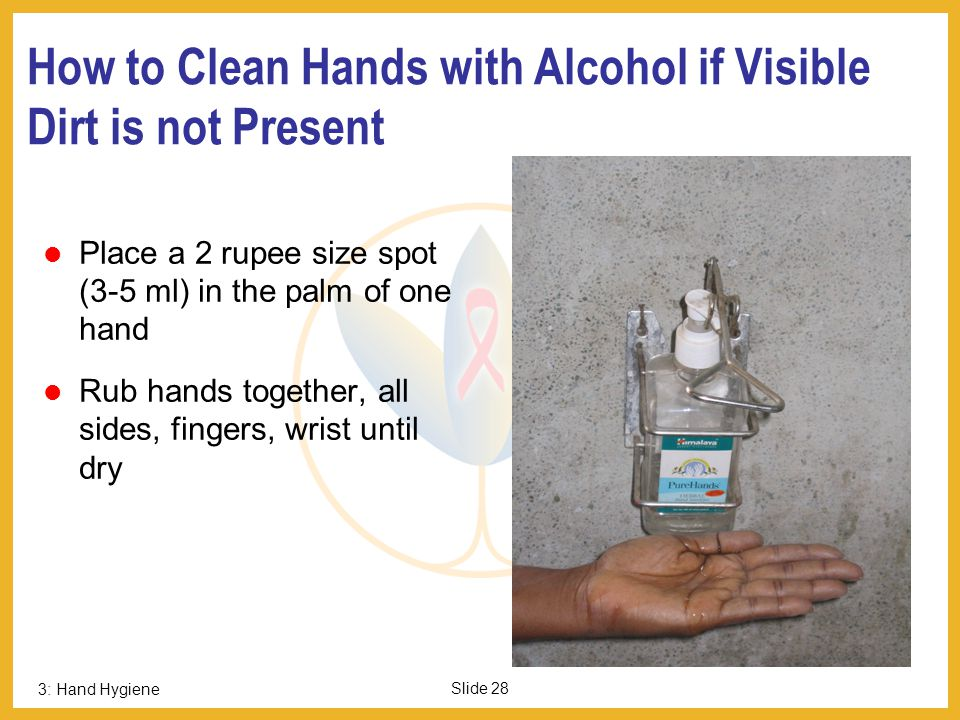 How to Clean Hands with Alcohol if Visible Dirt is not Present