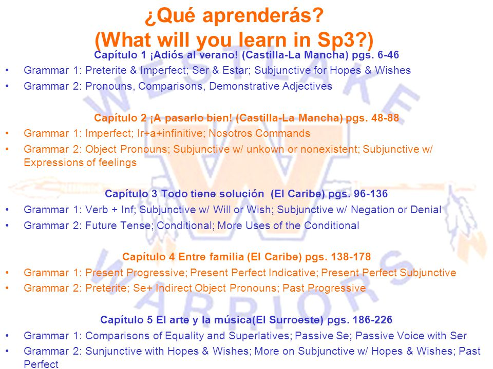¿Qué aprenderás (What will you learn in Sp3 )