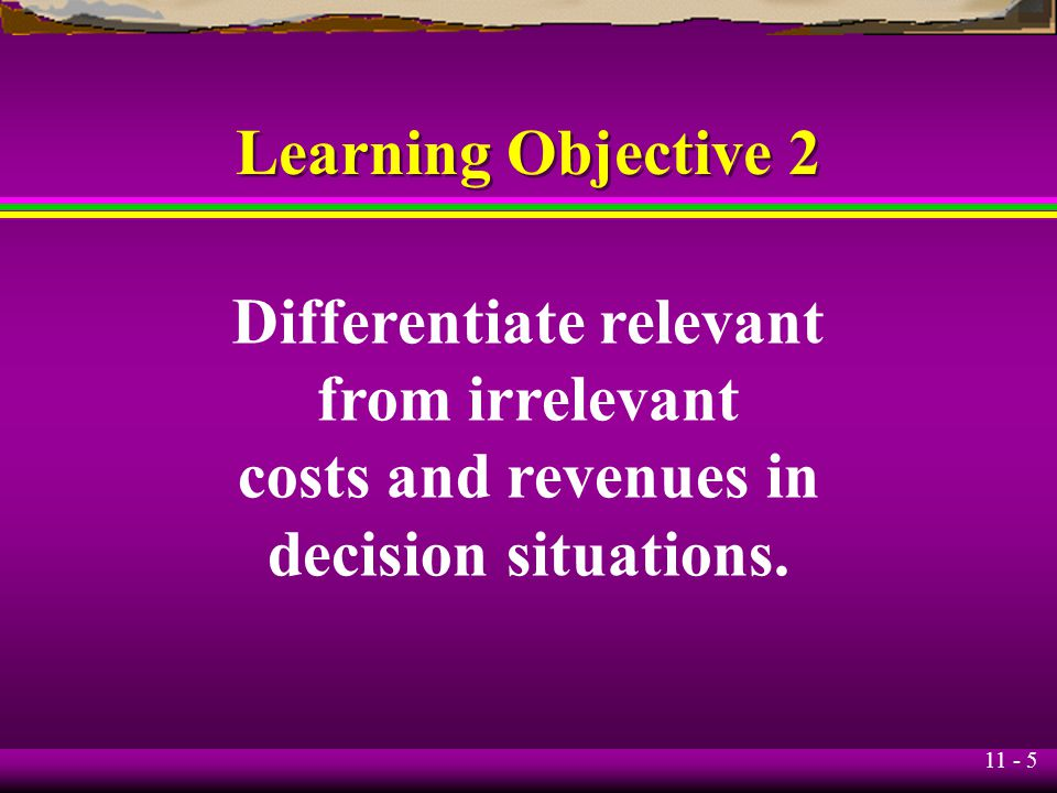 Differentiate relevant