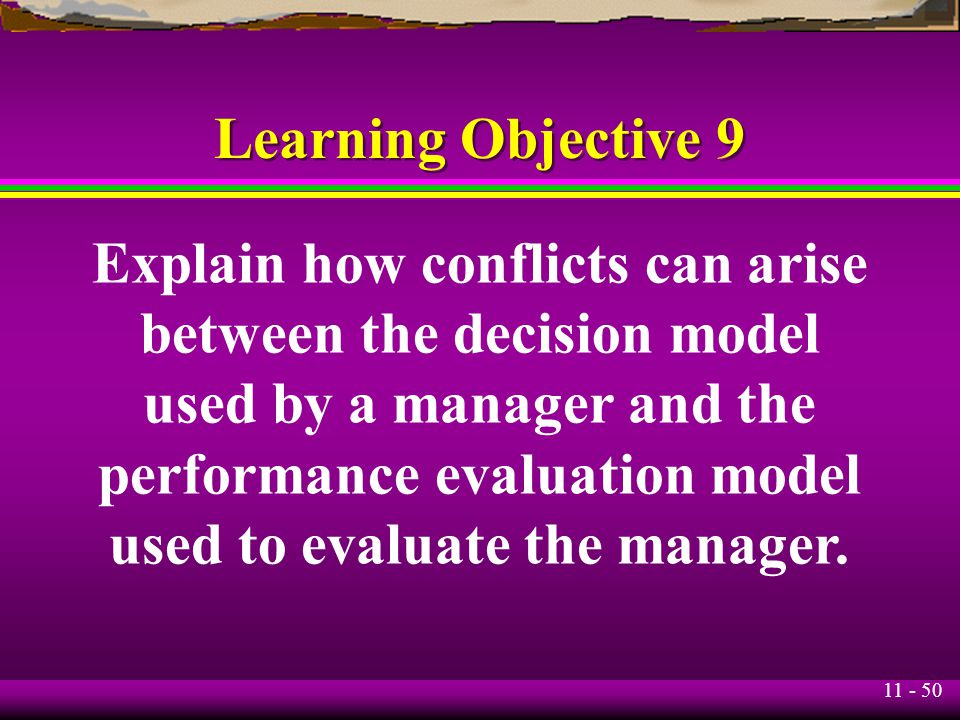 Explain how conflicts can arise between the decision model