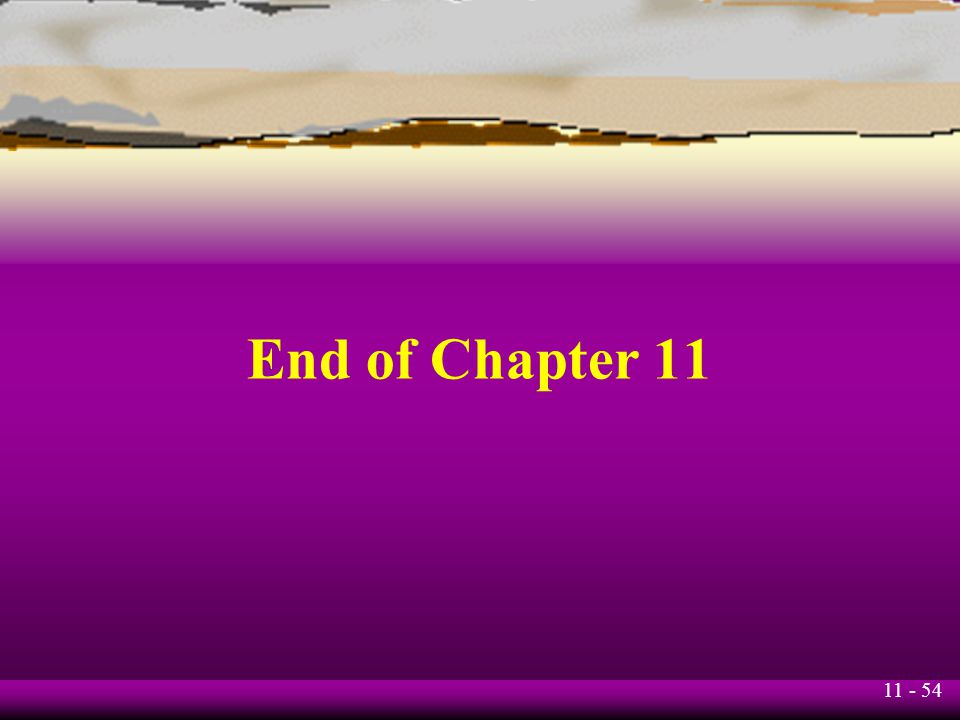 End of Chapter 11