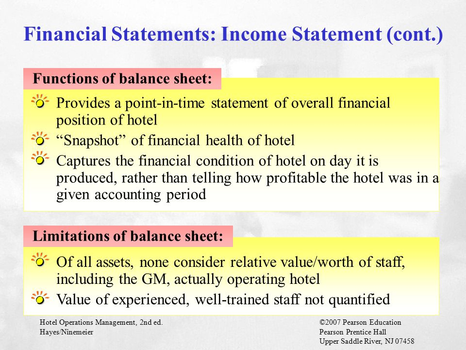 Financial Statements: Income Statement (cont.)