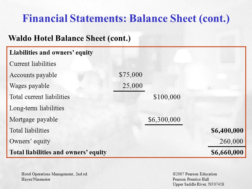 Financial Statements: Balance Sheet (cont.)