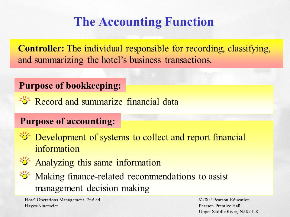 The Accounting Function