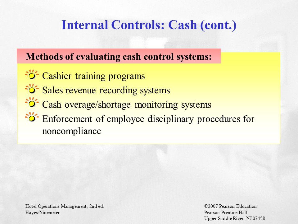 Internal Controls: Cash (cont.)