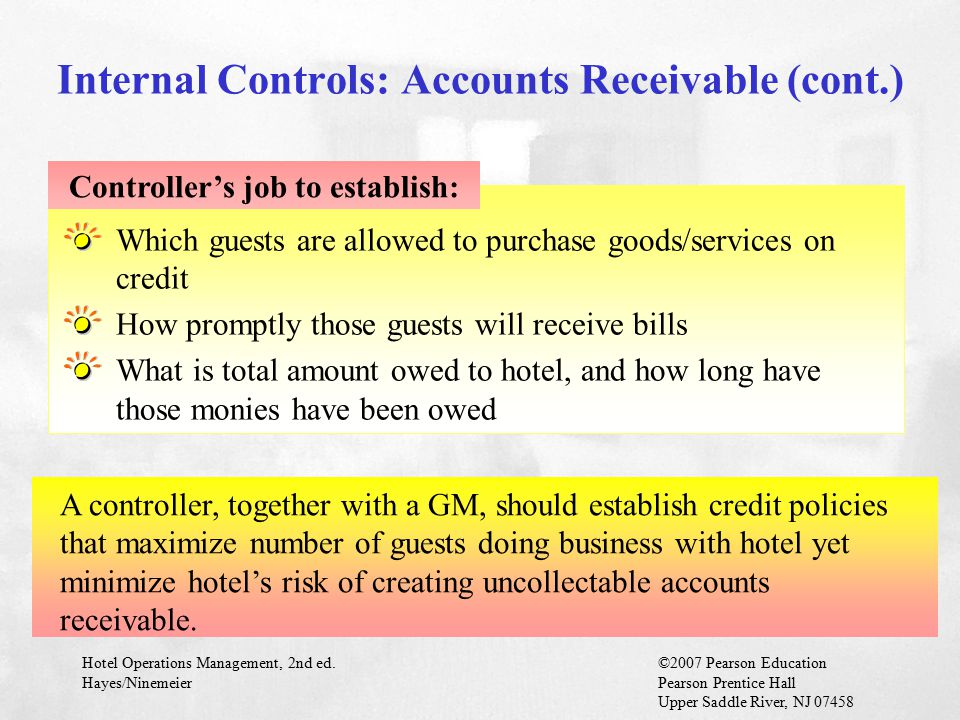 Internal Controls: Accounts Receivable (cont.)