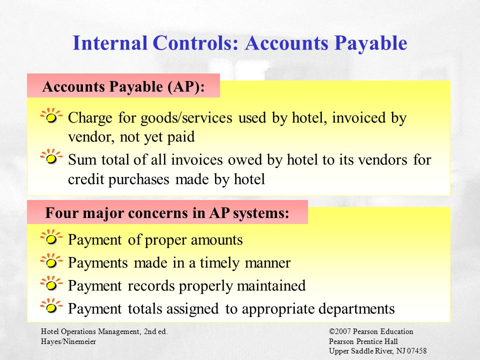 Internal Controls: Accounts Payable