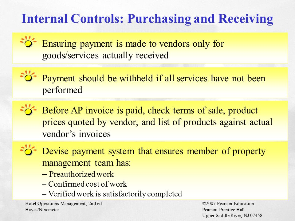 Internal Controls: Purchasing and Receiving