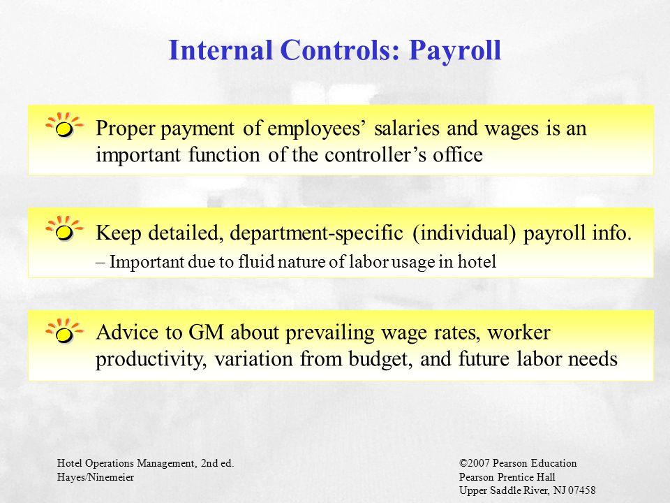 Internal Controls: Payroll