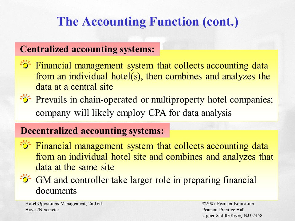 The Accounting Function (cont.)